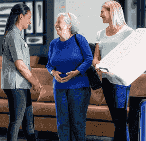 older lady enters nursing home