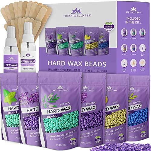 Tress Wellness Hard Wax Beans Wax Beads - Hair Removal - For Bikini Brazilian